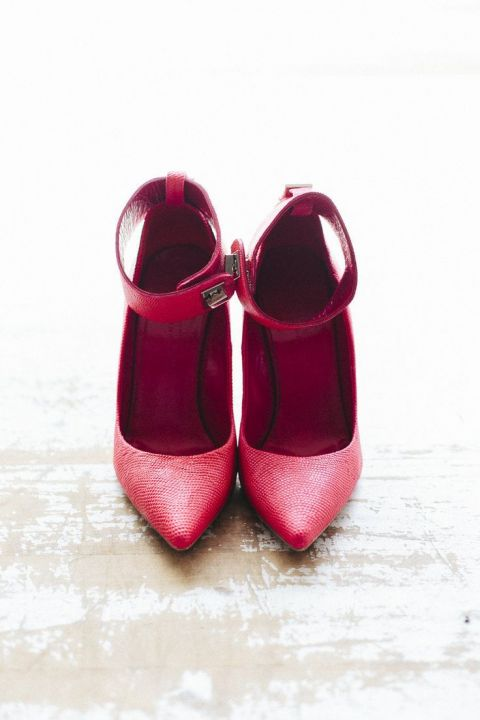 Chic Modern Berry Wedding Shoes | The Loved Ones | Frost and Berry - A Chic Winter Wedding Palette