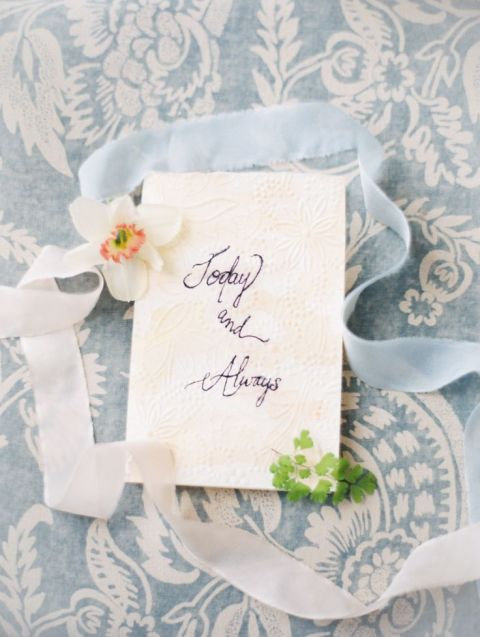 Floral Print and Love Letters | Orange | Jose Villa Photographie | Frost and Berry - A Chic Winter Wedding Palette