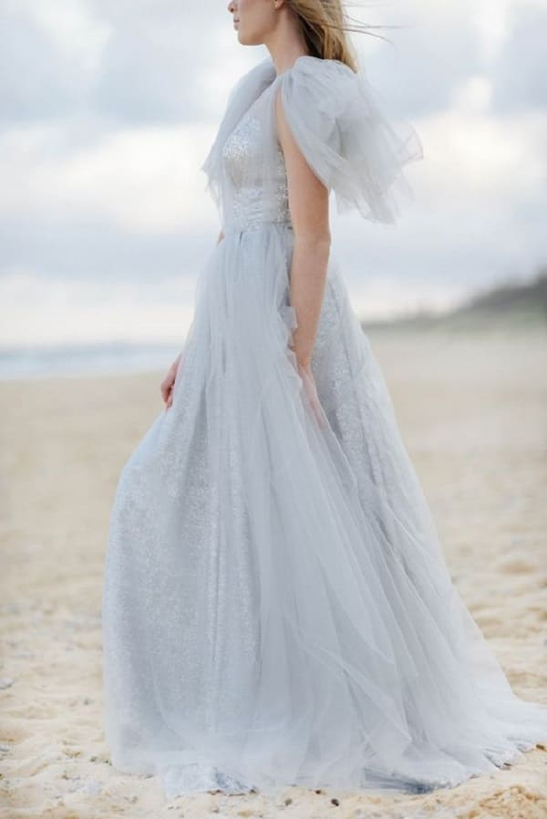 Frost and berry a chic winter wedding palette hey for Pale blue dress for wedding