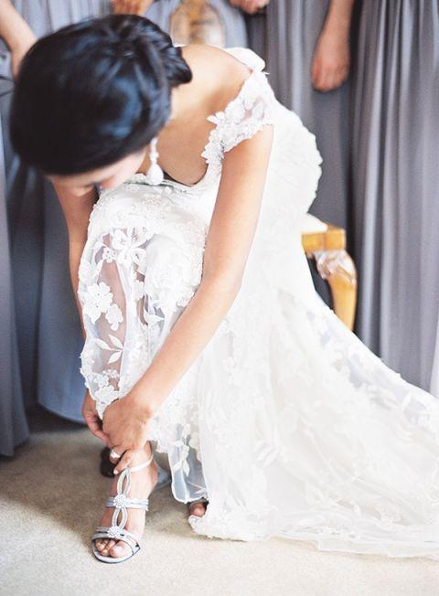 Silver Shoes Wedding 36 Vintage Elegant Lace Wedding Dress
