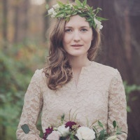 Woodland Bride in Ivory Lace | Mintwood Photo Co. | A Forest Fairytale Anniversary Shoot with a Bohemian Picnic