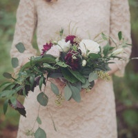 Loose Foraged Bouquet of Greenery | Mintwood Photo Co. | A Forest Fairytale Anniversary Shoot with a Bohemian Picnic