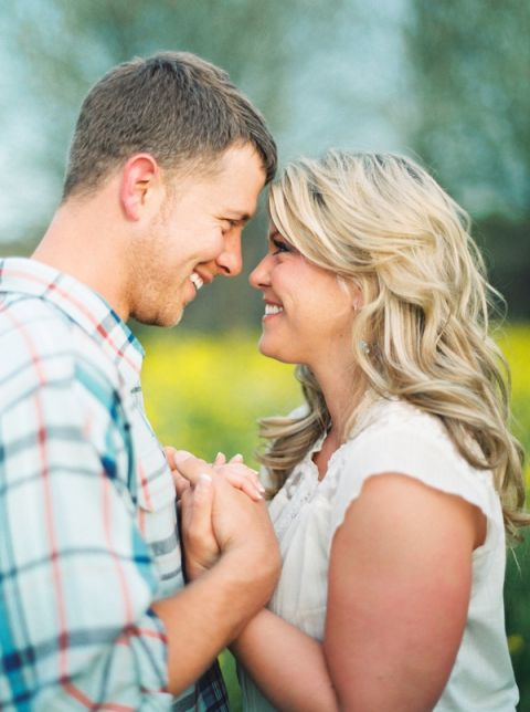 Charming and Relaxed Engagement Shoot | JoPhoto | Blooming Spring Orchard Engagement Captured on Film