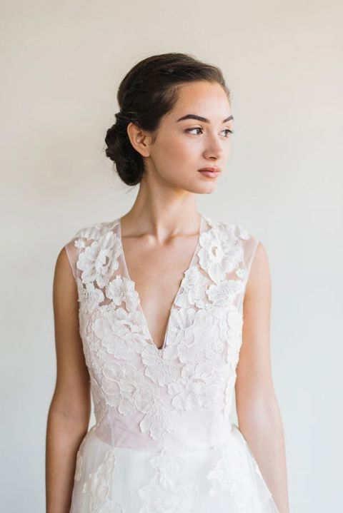 Romantic Lace Wedding Dress | Rustic White Photography |Winter Blush - Introducing the Petras Gown by Chaviano Couture!