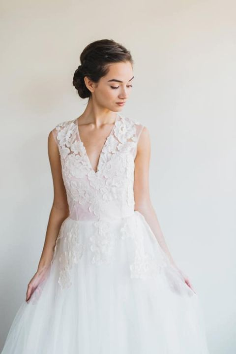 Floral Lace Wedding Dress