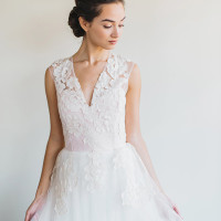 Floral Lace Wedding Dress | Rustic White Photography |Winter Blush - Introducing the Petras Gown by Chaviano Couture!