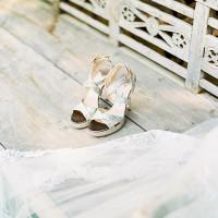 Silver Jimmy Choo Wedding Shoes | Brancoprata | Stylish White and Silver Destination Wedding in Portugal