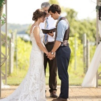 Romantic Vineyard Wedding Ceremony | Erin Johnson Photography | Rustic Winery Wedding Celebrating Natural Beauty