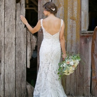 Allure Bridals Lace Wedding Dress | Erin Johnson Photography | Rustic Winery Wedding Celebrating Natural Beauty