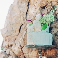 Mint and Gold Leaf Wedding Cake | Grace Aston Photography | Swept Away - Mermaid Inspired Wedding on the Coast