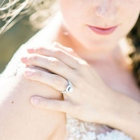 Gorgeous Engagement Ring Shot | Grace Aston Photography | Swept Away - Mermaid Inspired Wedding on the Coast