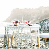 Vintage Seaside Wedding Table | Grace Aston Photography | Swept Away - Mermaid Inspired Wedding on the Coast