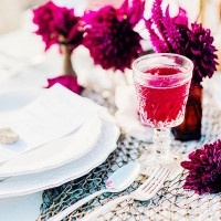 Bright Fuchsia and Berry Flowers   Grace Aston Photography   Swept Away - Mermaid Inspired Wedding on the Coast