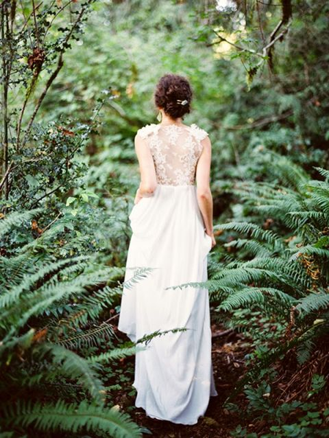 Bride in a Fern Grove