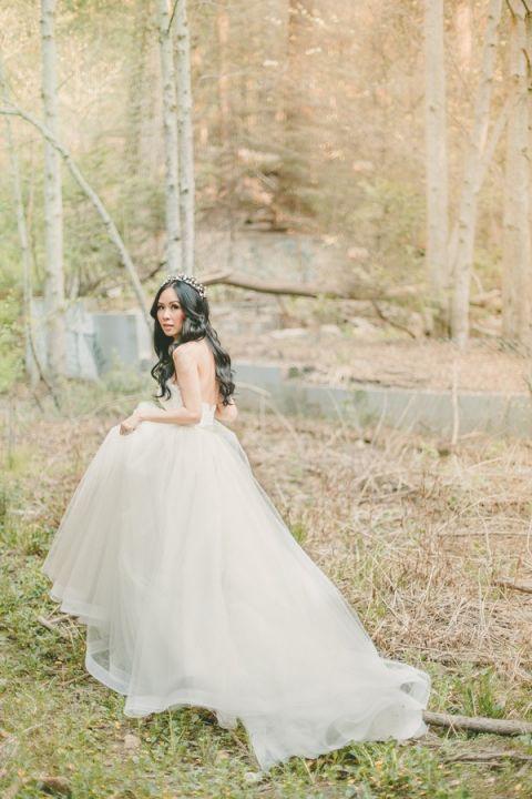 Enchanting Mountain Bridal Portraits Hey Wedding Lady