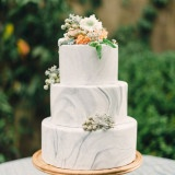 Modern Marbled Wedding Inspiration in Earthy Tones of Gray, Yellow, and Amber | Rustic White Photography