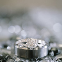 Woven Band Engagement Ring | JoPhoto | A Sparkling Blue and White Black Tie Museum Wedding on New Years Eve!