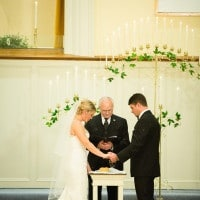 Elegant White and Gold Ceremony   JoPhoto   A Sparkling Blue and White Black Tie Museum Wedding on New Years Eve!