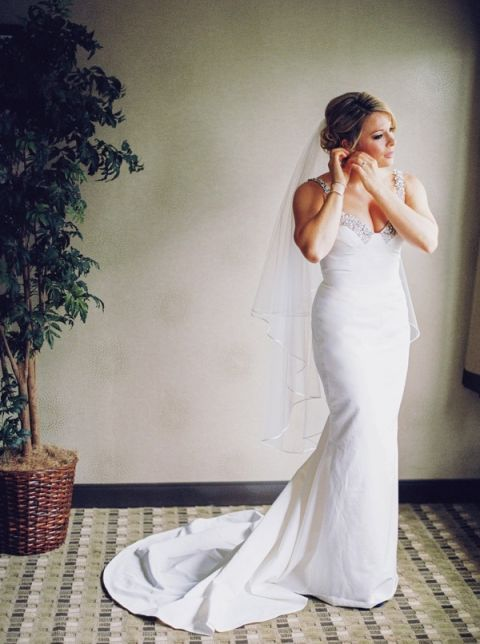 Classic Bride with a Delicately Embellished Wedding Dress