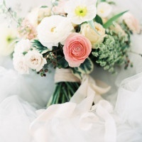 Stunning Spring Bouquet with Peonies and Ranunculus | Orange Photographie and Beargrass Gardens | Blissful Bridal Shoot - Getting Ready for the Wedding Day - https://heyweddinglady.com/blissful-bridal-shoot-getting-ready-for-the-wedding-day/