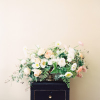 Pastel Floral Arrangement with Spring Poppies | Orange Photographie and Beargrass Gardens | Blissful Bridal Shoot - Getting Ready for the Wedding Day - https://heyweddinglady.com/blissful-bridal-shoot-getting-ready-for-the-wedding-day/