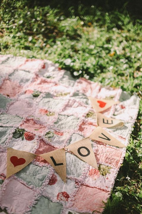 DIY Burlap Love Banner | Jenny Sun Photography | A Sweet Love Shoot with a Reem Acra Gown and DIY Details for Valentines Day!
