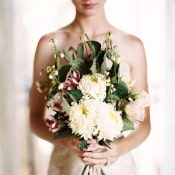 Elegant Farmers Market Bouquet | Katie Grant Photography | Old World Architectural Wedding Styling in Lace and Pearl