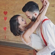 Charming Wedding Portraits with a Heart Garland | Olga Thomas Photography | Retro Pastel Wedding Shoot with French Country Style
