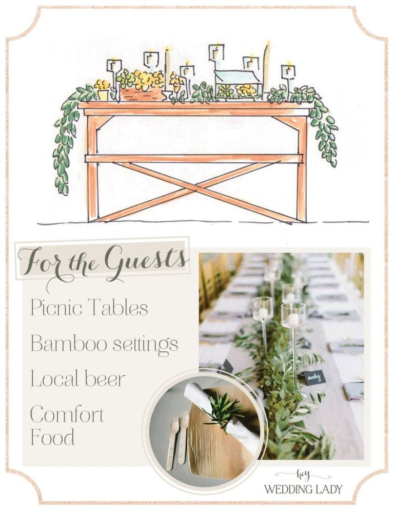 Greenery Garland and Modern Geometric Table Decor | Styling Guide for a Rustic Modern Wedding with Graphic Details and Tassel Garlands
