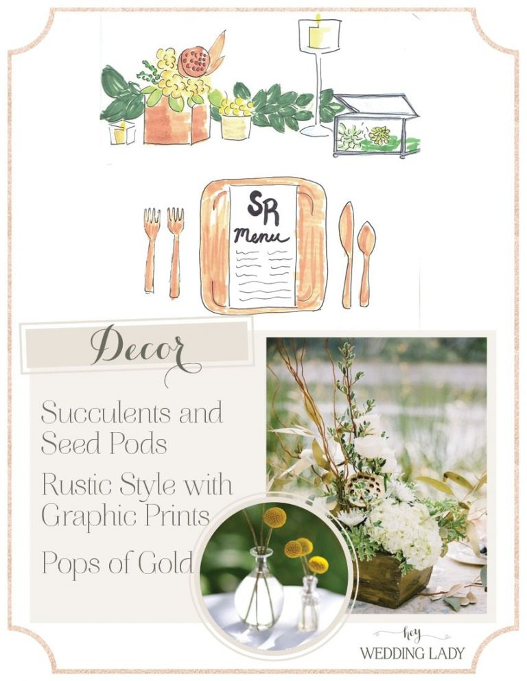 Sustainable Bamboo Place Setting with Modern Graphic Wedding Stationery   Styling Guide for a Rustic Modern Wedding with Graphic Details and Tassel Garlands