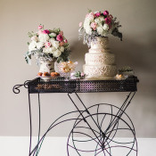 French Pastry Dessert Cart | Megan Robinson Photography and Leslie Dawn Events | Pearls and Roses - Vintage French Glam Wedding Portraits