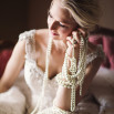 Pearls and Roses - Vintage French Glam Wedding Portraits | Megan Robinson Photography and Leslie Dawn Events