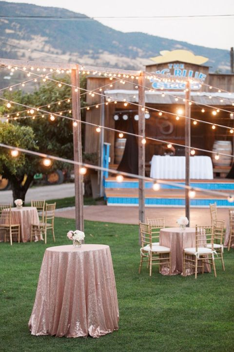 Sparkling Blush And Champagne Wedding In An Apple Orchard