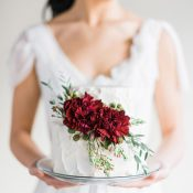 Winter Light - Graceful Burgundy and Blush Wedding Shoot | Rustic White Photography