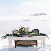 Vintage Sweetheart Table with a Greenery Garland