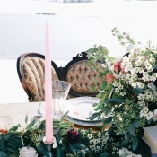 Vintage Sweetheart Table with a Garland Runner