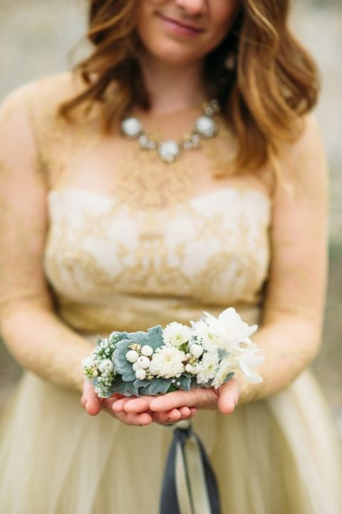 Delicate White and Silver Flower Crown | Tonie Christine Photography | Starting a New Adventure with A Surprise Vow Renewal - https://heyweddinglady.com/starting-a-new-adventure-with-a-surprise-vow-renewal/