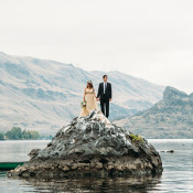Breathtaking Adventure Wedding in the Center of a River | Tonie Christine Photography | Starting a New Adventure with A Surprise Vow Renewal - https://heyweddinglady.com/starting-a-new-adventure-with-a-surprise-vow-renewal/