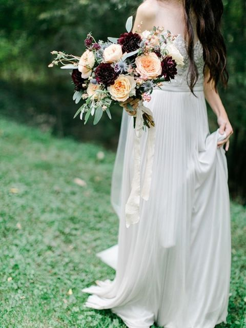 White Wedding Dress With Red Roses 22 Cool Pleated Chiffon Wedding Dress