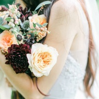 Garnet and Rose Gold – An Enchanted Garden Wedding Editorial