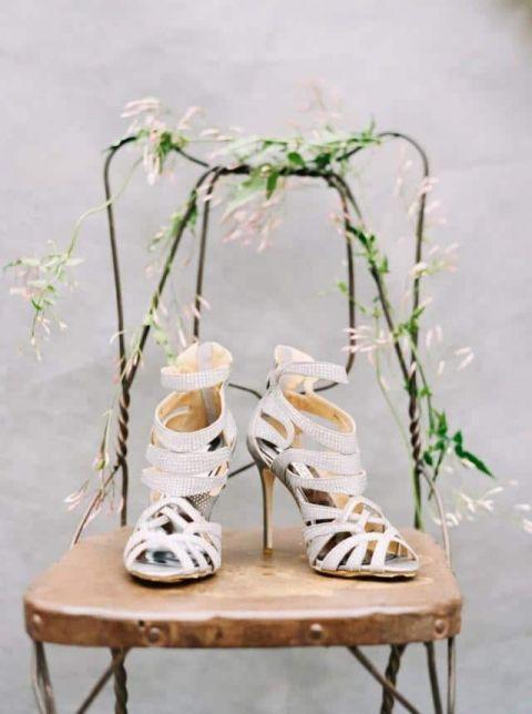 Silver Wedding Shoes 76 Beautiful Silver Badgley Mischka Wedding
