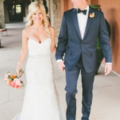 Classic Black Tie Couple | onelove photography | Bold Colors and Modern Sparkle in Palm Springs for a Glam Desert Wedding