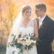 Golden Sunlight for Magic Hour Portraits | Mintwood Photo Co. | Elegant DIY Wedding in an Autumn Garden