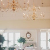 Lush Autumn Florals with Gold Chandeliers | Mintwood Photo Co. | Elegant DIY Wedding in an Autumn Garden