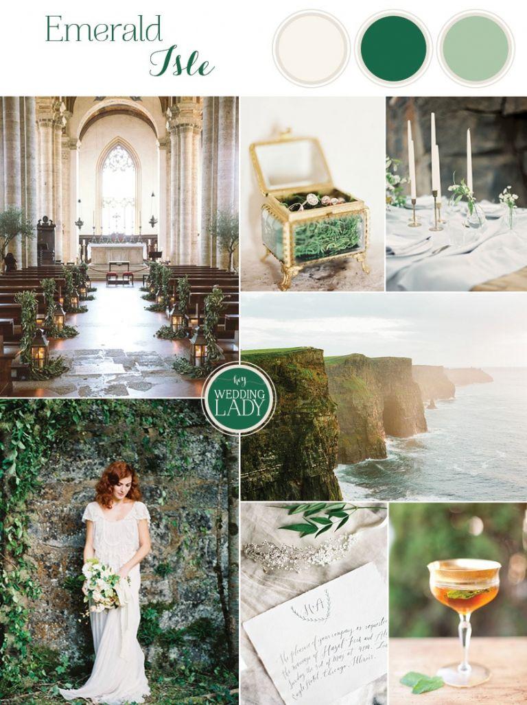 Emerald Aisle - Graceful Irish Wedding Ideas for Saint Patrick's Day