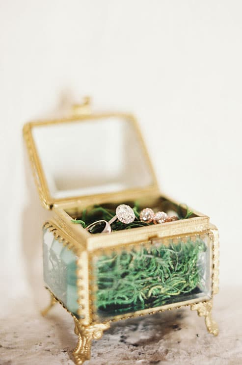 Engagement Ring in a Vintage Gold Box Photography   Emerald Isle - Graceful Irish Wedding Ideas for Saint Patrick's Day