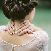 Gorgeous Bridal Hairstyle | Melanie Nedelko Photography | A Lush Midsummer Wedding on the River in Fresh Berry and Mint