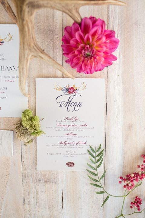 Rustic Colorful Wedding Invitations