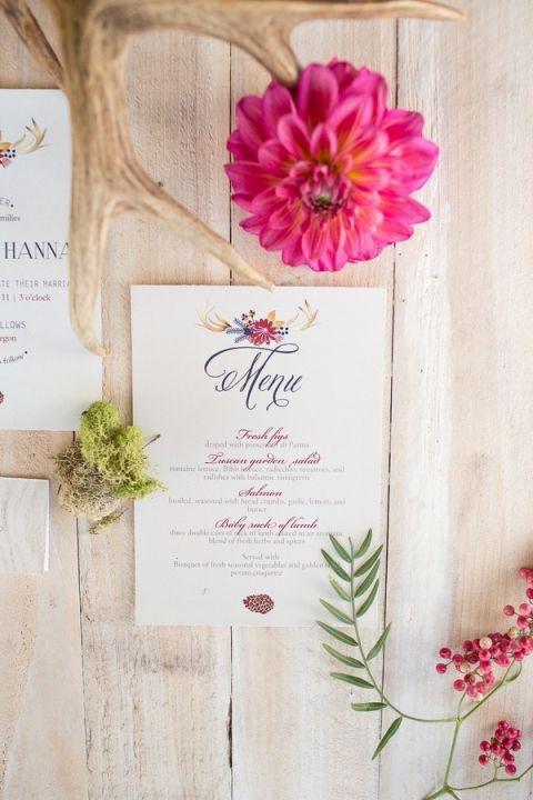 Rustic Colorful Wedding Invitations