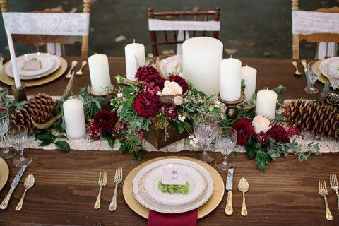 Rustic Woodland Wedding Decor For Fall